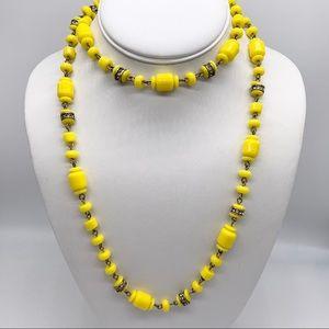 J. Crew Yellow Beaded Rondelle Necklace
